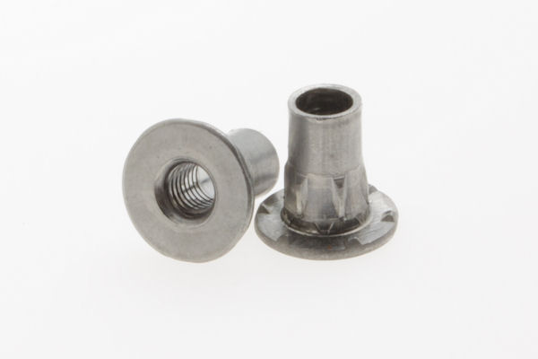 Internally threaded custom rivet
